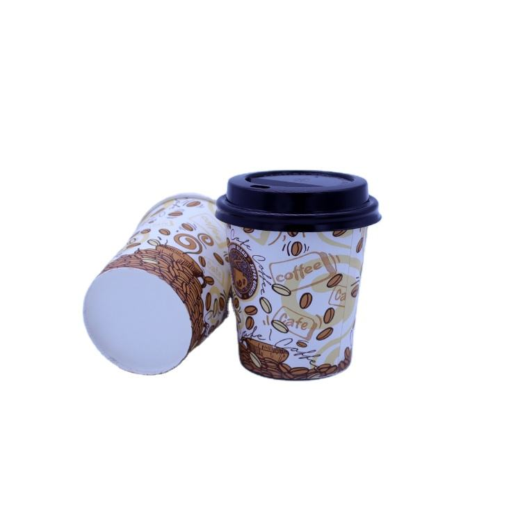 vending machine small size logo printed design espresso paper glasses hot selling 180ml take away cup