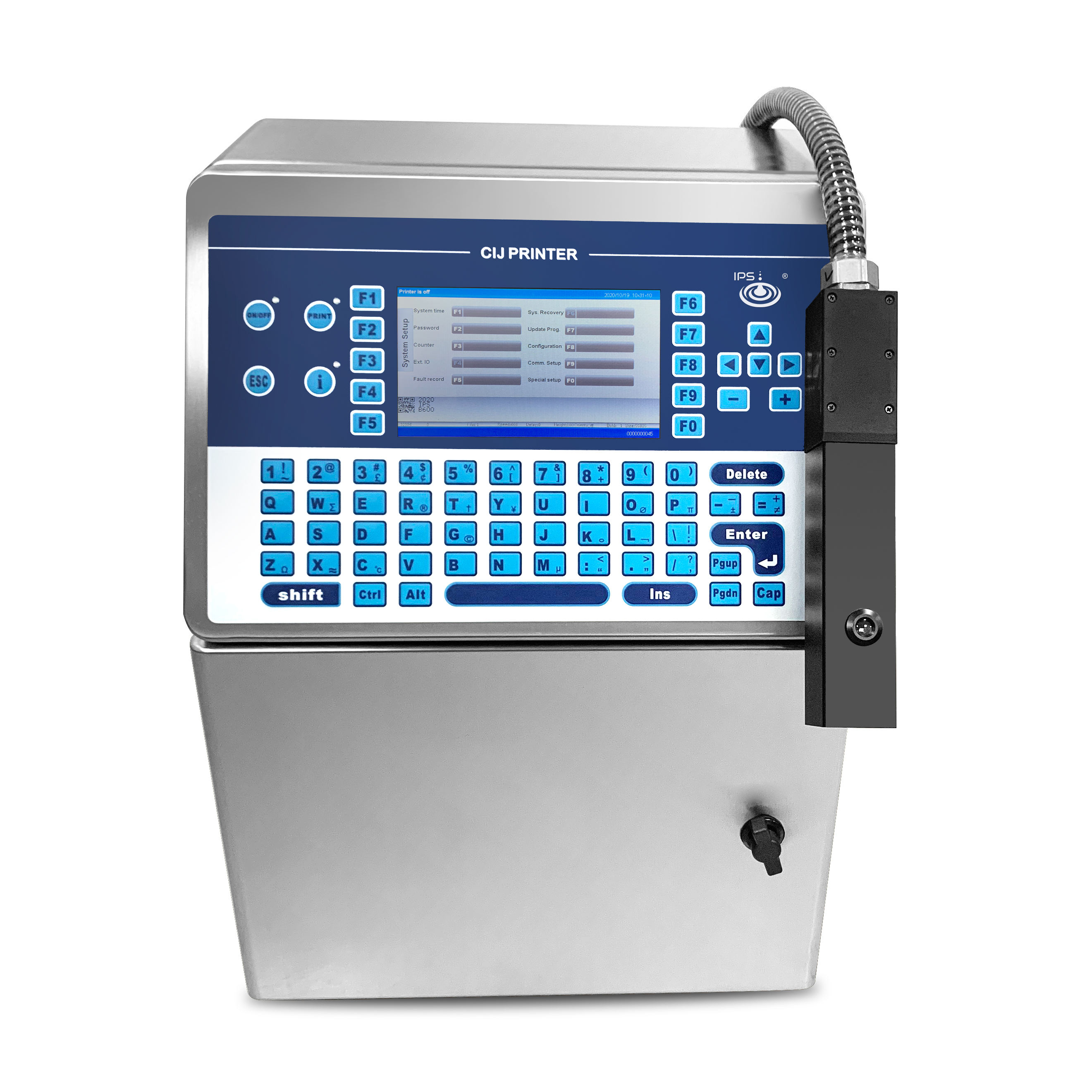 Usb Port Continuous Industrial Serial Number/Barcode High Resolution Inkjet Printer Printing Coding Machines