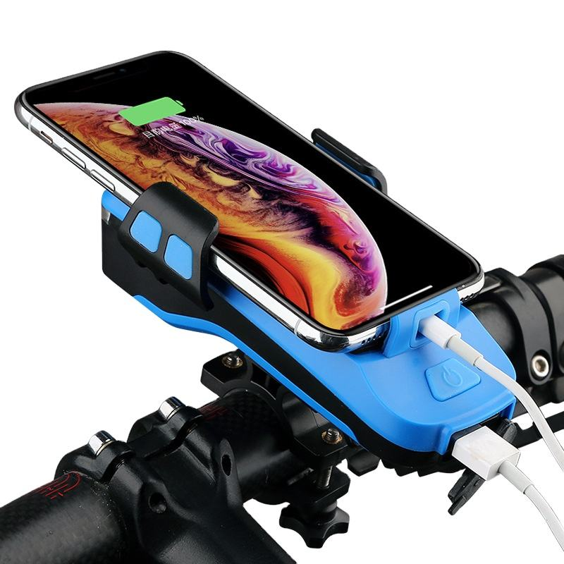 Universal Silicone Bike Handlebar Mobile Mount Riding Headlights Power Bank Bicycle Motorcycle Cell Phone Holder