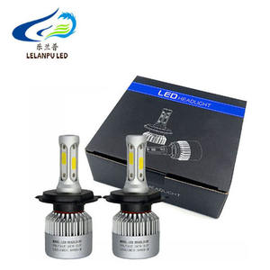High power LED headlight bulbs S2 COB chip H1/H3/H7/H4/9003/9007/H13 36W 8000LM 6000K 6500K for auto car LED headlamp