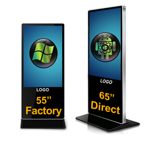 65 Inch Indoor Touch Electronic Billboard Vertical Floor Standing Advertising Player Android and Windows