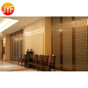 ZB0014 Customized Solutions Hotel Restaurant Stainless Steel Metal Patterns Restaurant Wall Hall Divider