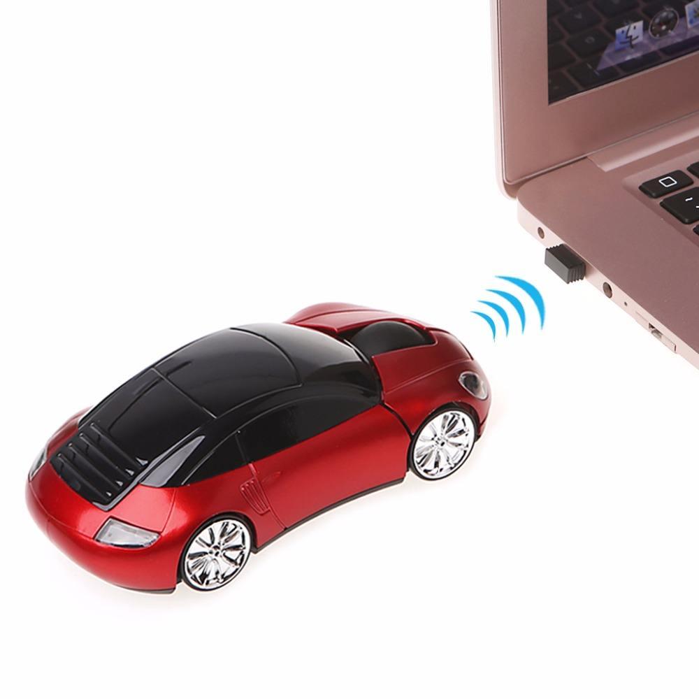 Design creativo 2.4 GHz auto <span class=keywords><strong>mouse</strong></span> ottico senza fili per il computer portatile