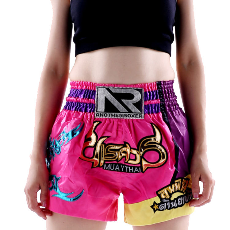 Quick Dry made by polyester full sublimation printed Custom Made kickboxing short fight combat Muay Thai Shorts for kid adult