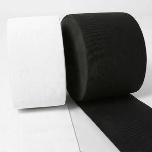 high quantity 50mm Men Spandex Waistband Customized white and black Elastic Band Underwear