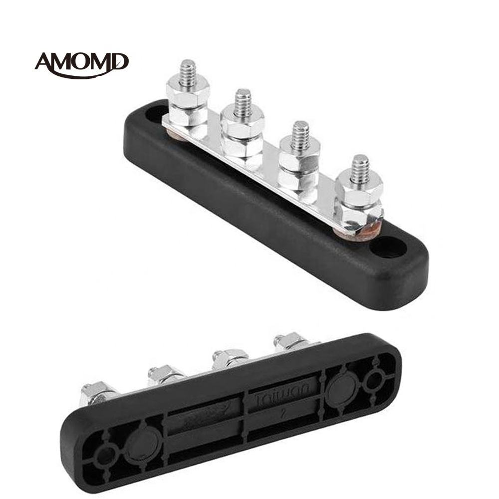 AMOMD High Quality DC 100A Prismatic Busbar Small Screw Terminals Blocks