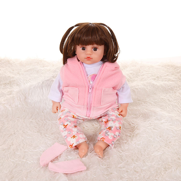 Wholesale quality funny baby toy adorable toys Plush silicone material reborn stuff baby doll