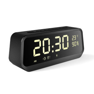 OEM&ODM LED Digital Alarm Clock With Wireless Speaker Bluetooth Stereo Mirror Speaker With USB charge Clock
