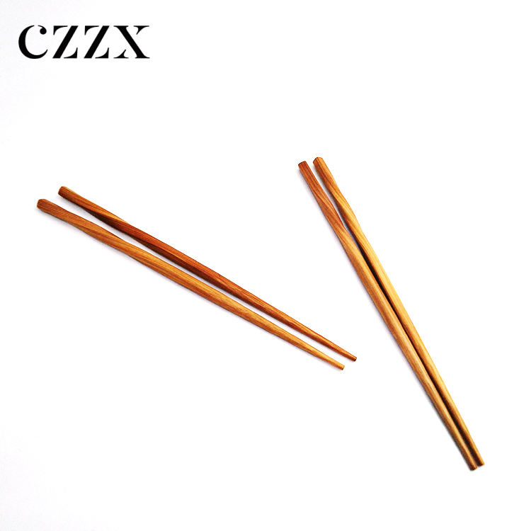 China manufacturer stocked eco-friendly reusable twist shape bamboo chopsticks for cooking and eating
