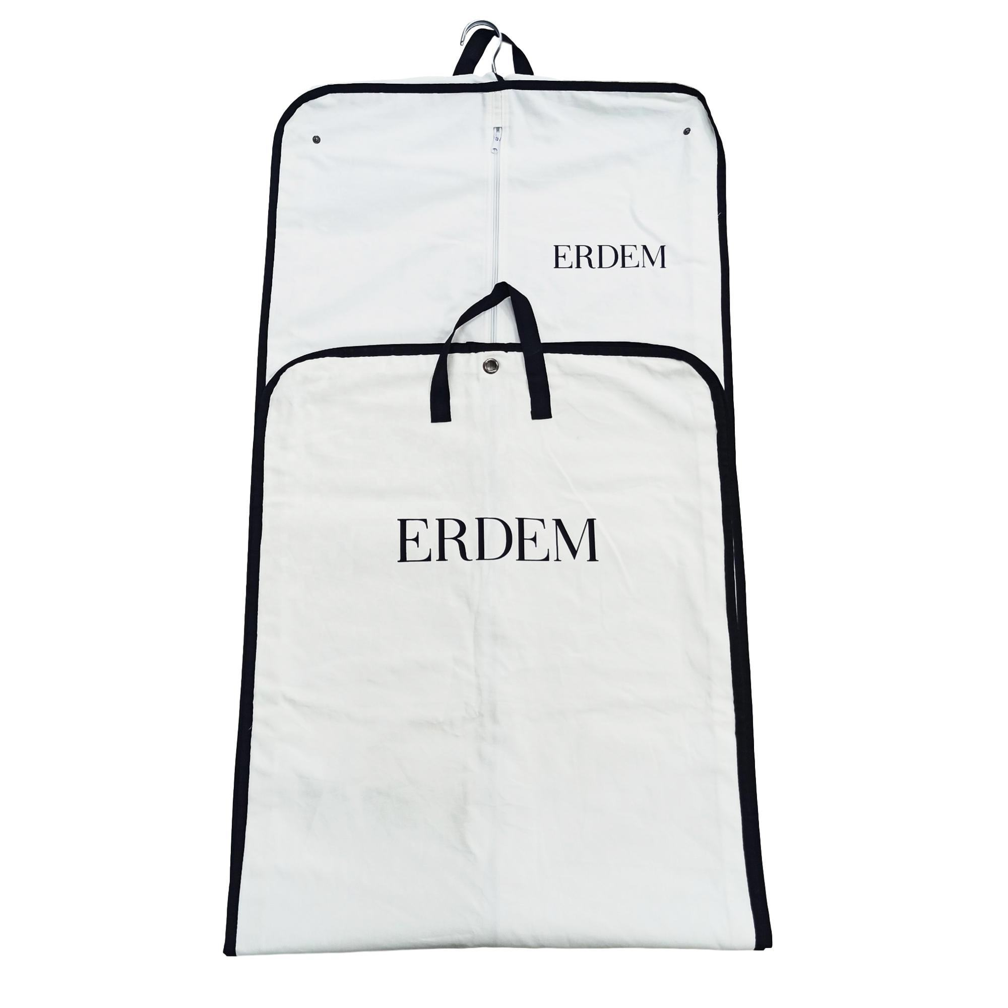 High quality custom made cotton garment bag wedding dress garment bag