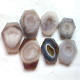 Hot Sale Polished Natural Geode Agate Slices Quartz Crystal Board For Sale
