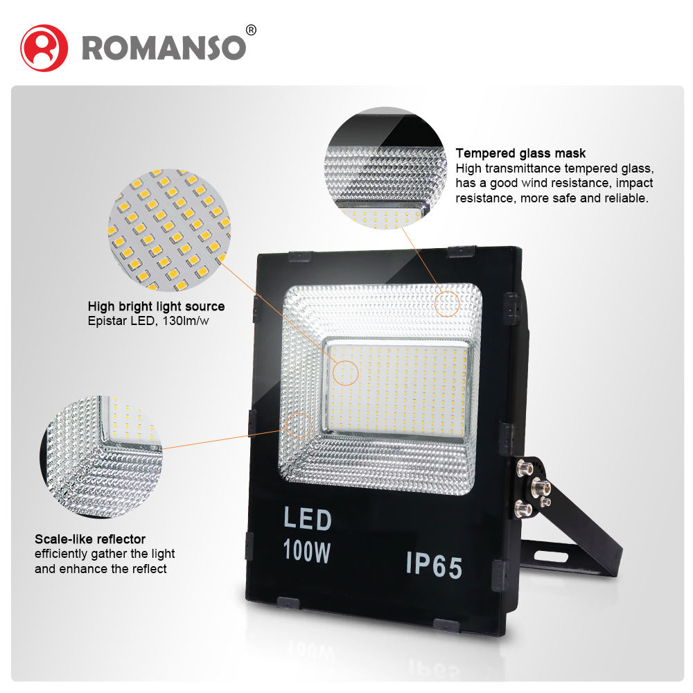 5 Warranty Aluminum Led Flood Light 100W Ip65 Led Flood Light