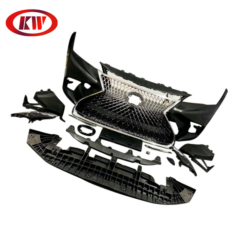 Facelift Bumper for Toyota Camry Convert to Lexus Upgrade LS600 Style Front Bumper Rear Bumper ABS Material Body kit 2018 2019