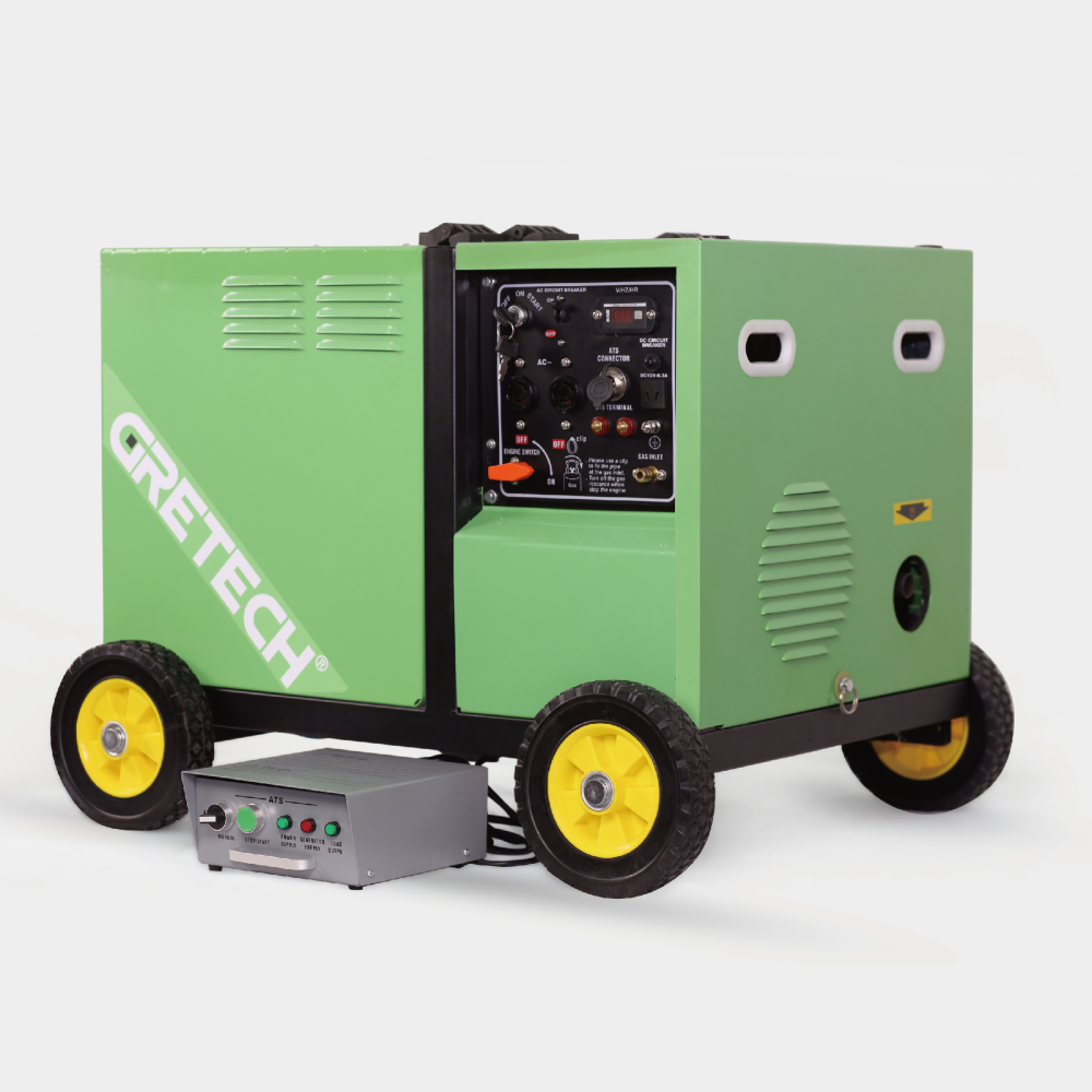 Gretech 6kw propane generator LPG generator the best gas generator for home use