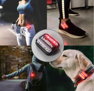 LED Safety Light  Bike Tail Light  USB Rechargeable Running Light for Runners  High Visibility for Cycling  Hiking