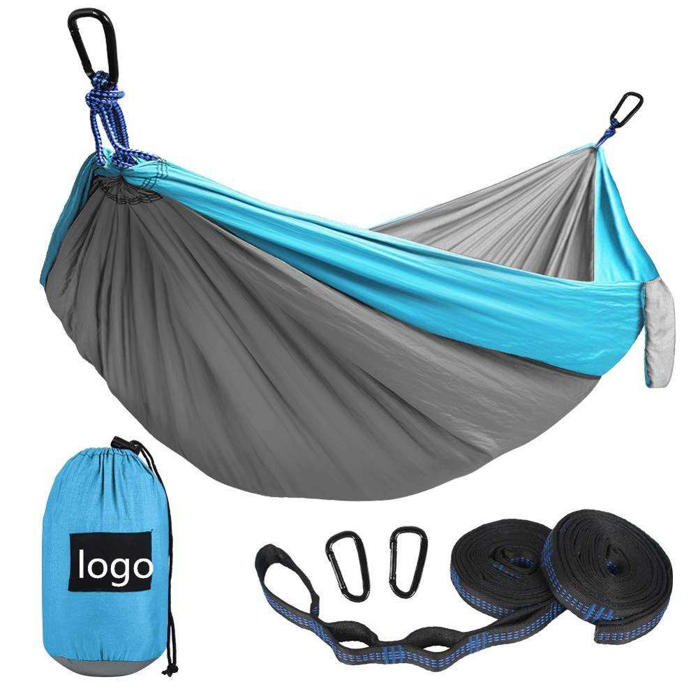 Portable Indoor Outdoor Camping Hammock with 2 Hanging Straps/Lightweight Nylon Parachute Hammocks for Backpacking