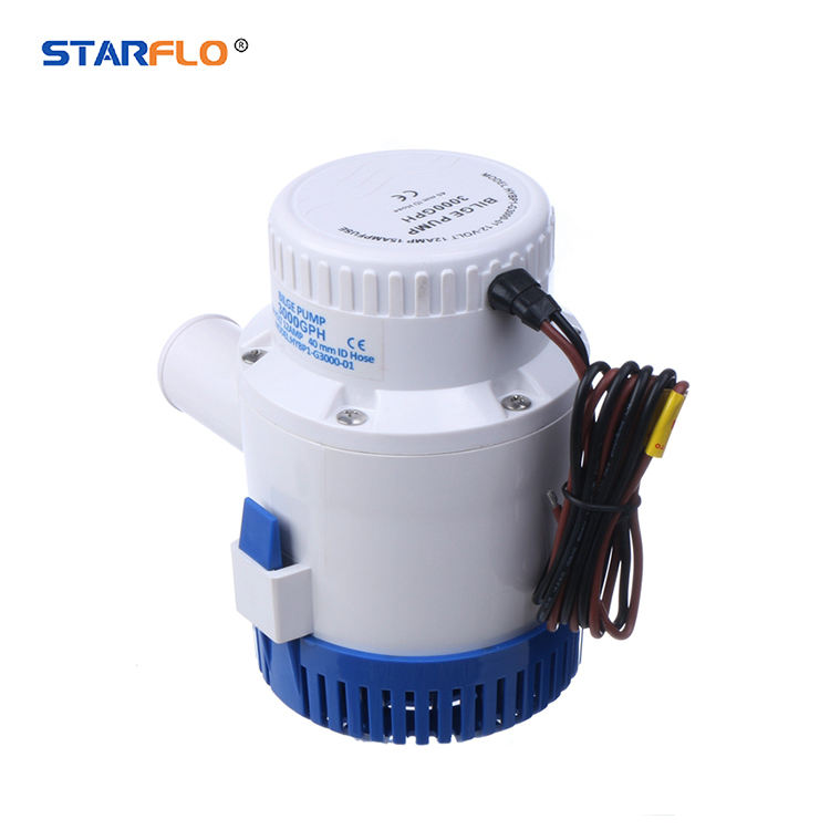 STARFLO 3000 GPH 14.0A 12V DC Submersible Bilge Pump for sea water