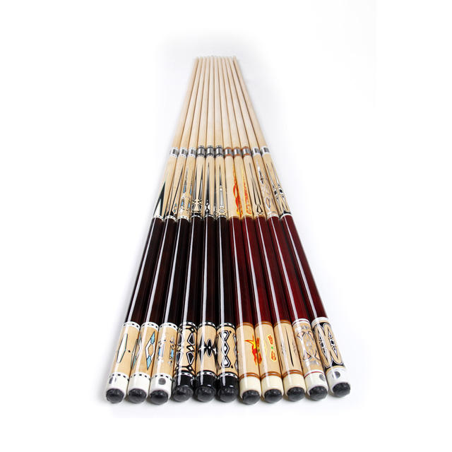 12 MM 13MM 1/2 Stainless Steel Unilock Joint Full Maple Wood Snooker Pool Billiard Cue For Billiard Table