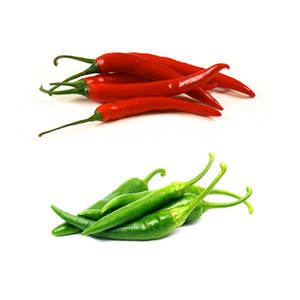 Dry and fresh Chili Pepper (Green/Red)