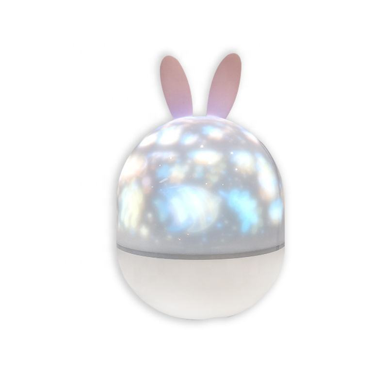 factory brand new cute Starry cosmo 360 degree rotating led projector night light with music