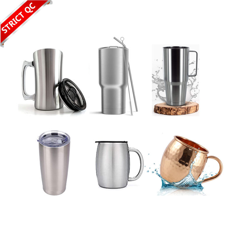 Double wall stainless steel Coffee beer cup tea mug glass with silicone sleeve sublimation blanks sport contigoe airpot disneyes