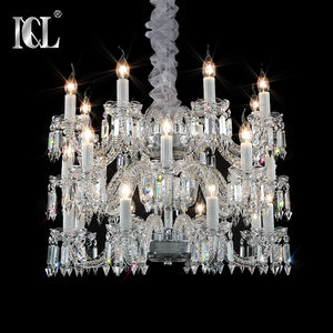 hot sell China 2019 popular 24heads baccarat art glass arm chandelier for hotel