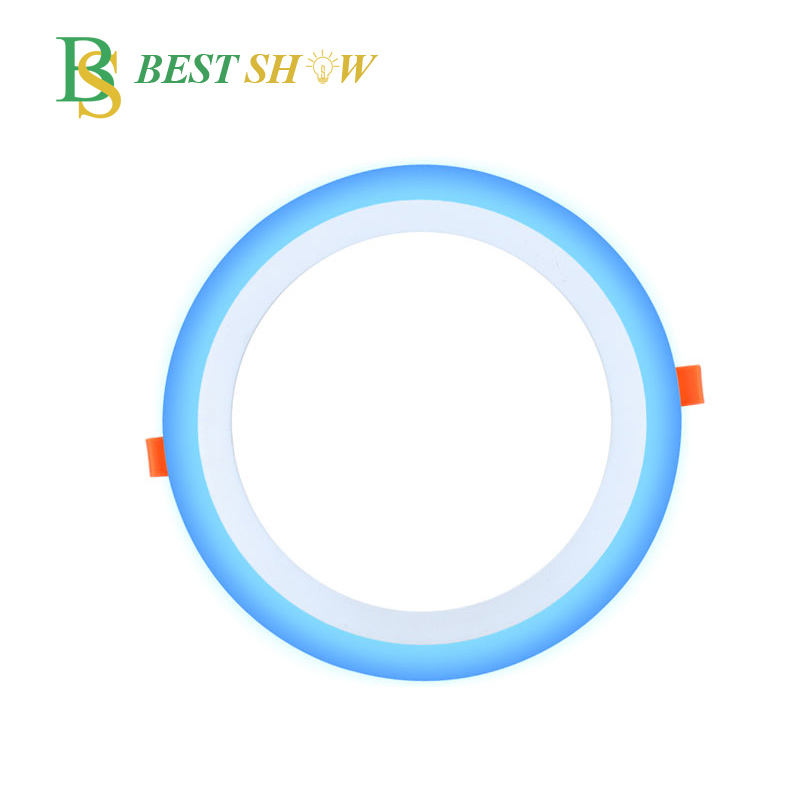 bestshow factory round 6w double color led panel light CE RoHS