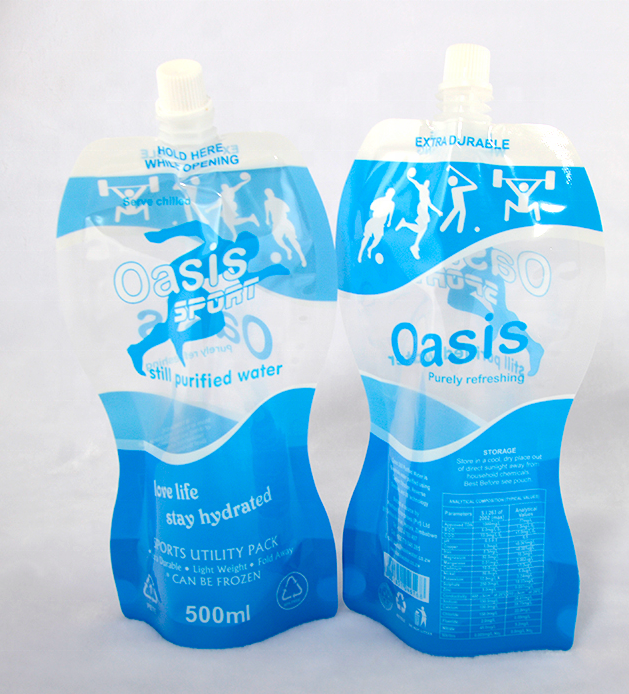 Custom Design Printed Reusable Plastic Flexible Stand-up Juice Spout Pouch for Liquid Packaging-S0927