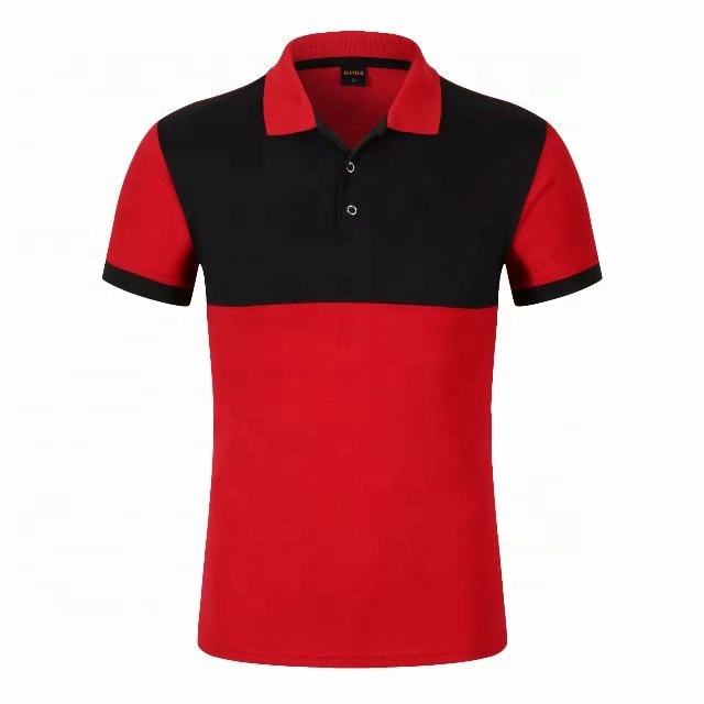 Sublimation Color matching Polo Shirt Simple Joker LS- 1860 65% Cotton 35% Polyester Polo Shirt for Daily Wear