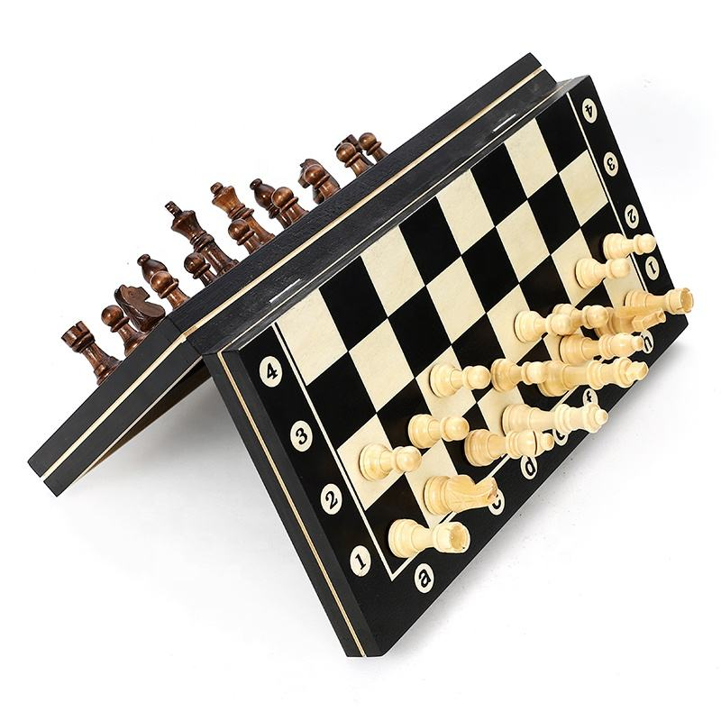 wooden international chess board magnetic game set for adults