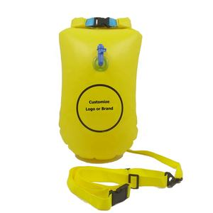 Inflatable Swimming Buoy With Waterproof Dry Bag For Open Water swimming