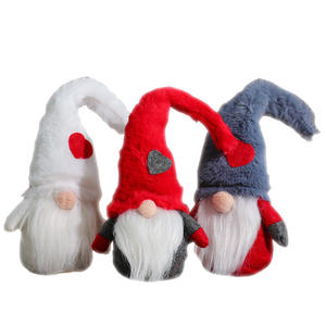 New design Christmas decortable decoration cute small gnomes christmas plush elf