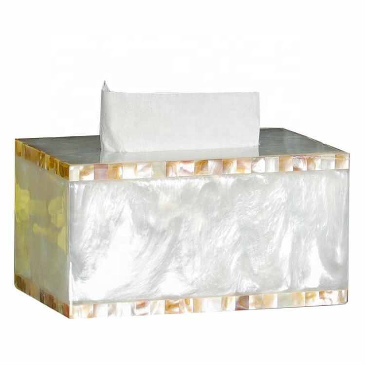 Nordic style decorations Light luxury high-end tissue box Household living room tissue box Shell pattern tissue box