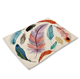 Colored feather print sweet table decor western placemat wedding decorations table settings