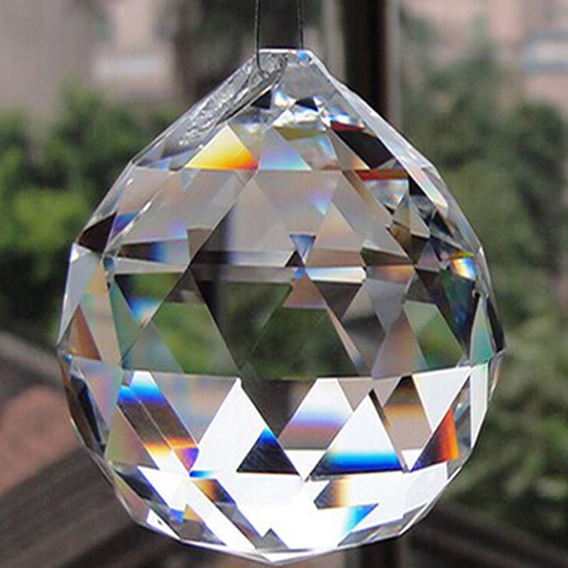 prisms crystal glass ball with hole for suncatcher chandelier hanger 4cm