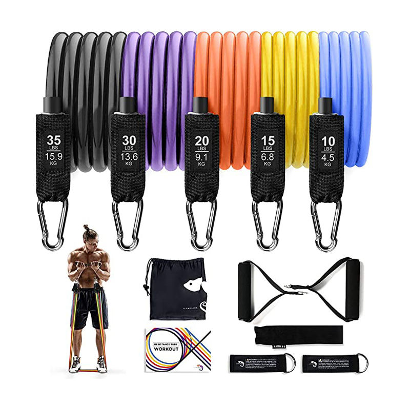 11pcs Home Fitness Equipment 5 Levels Heavy duty Door Anchor for Resistance Bands Set with Handles