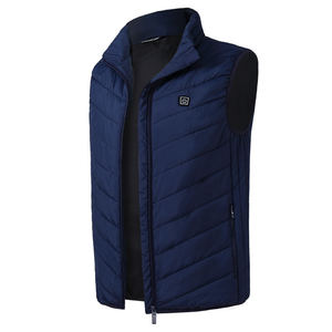 Mens Heating sleeveless padded Jacket Temperature Control Outdoor waistcoat Washable Usb Charging Heated Battery Usb Vest