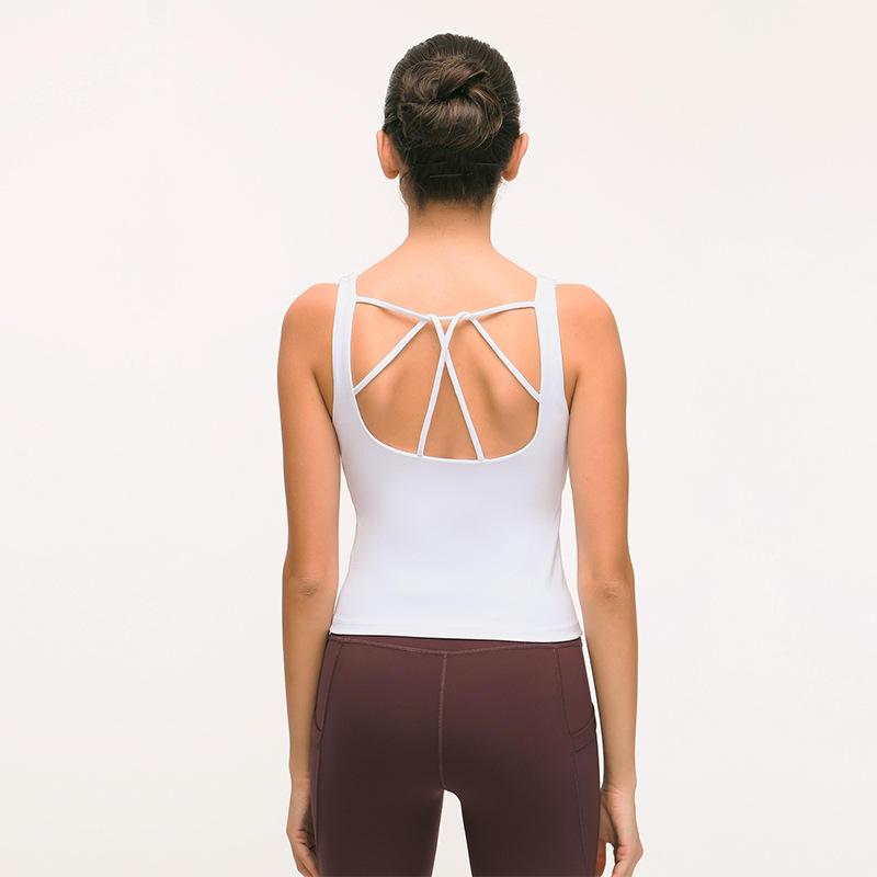 Fitness Yoga Gilet Femme Contiennent Plastron Confortable Respirant à séchage Rapide Croix Backless Sport Sous-Vêtements