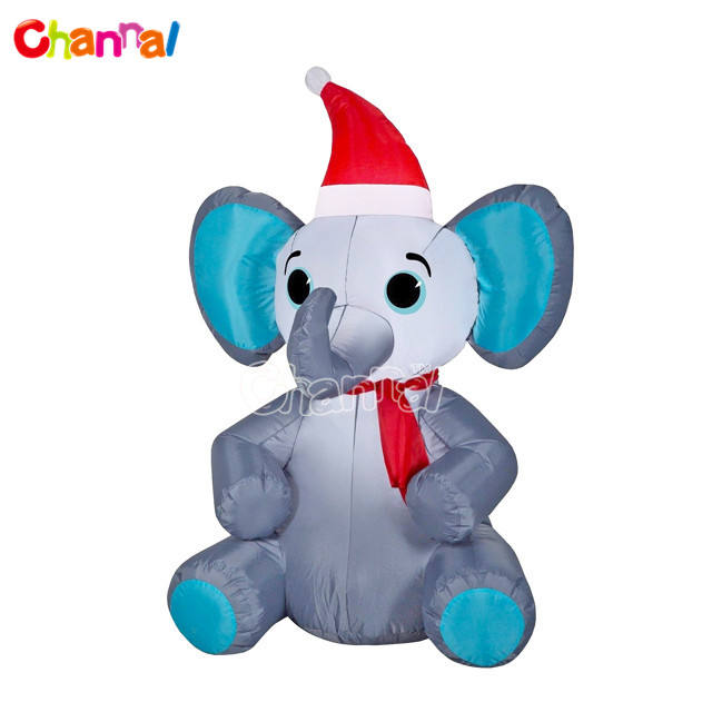 2021 news Christmas inflatable decoration Yard inflatable Elephant with light for garden