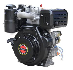 Máquinas 9Hp Air-Cooled Diesel Engine 186Fa Easy Start Motor A Gasolina Do Motor Pequeno Motor Elétrico