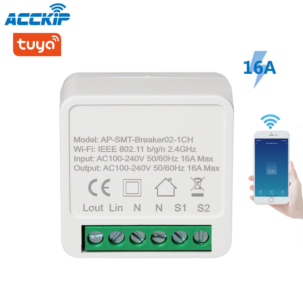 ANPU 16A Mini Smart Wifi DIY Switch Supports 2 Way Control, Smart Home Automation Tuya Smart Wifi Switch Wholesale Smart Switch