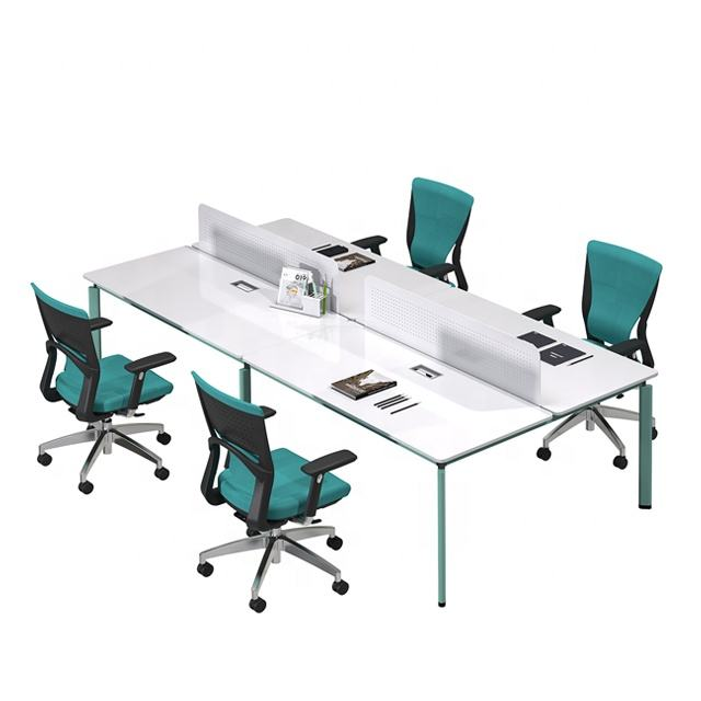 Office Table Modern Office Table Furniture Wooden Office Table Design for Four people