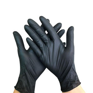 Factory Supply hot sales nitrile gloves powder free,safety black nitrile powder-free gloves#