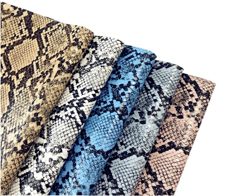 Fashion PU Snake Skin Leather for Shoes or Bags