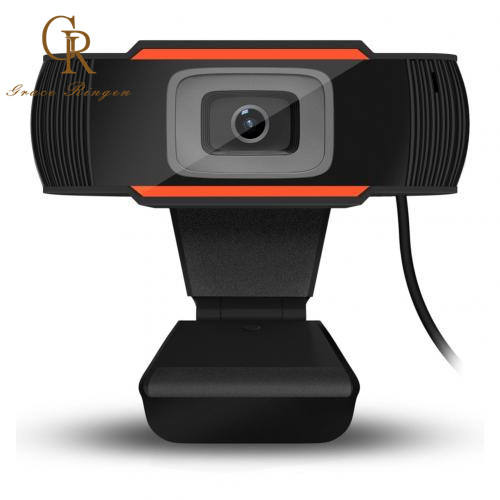 New 30 Degrees Rotatable 2.0 HD Webcam Webcamera USB Camera Video Recording Web Camera with Microphone For PC Computer