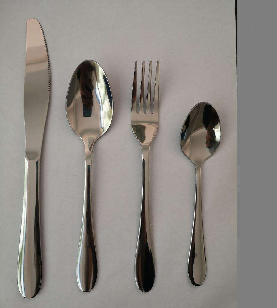 Hot sale stainless steel cutlery set silverware set kitchen restaurant party tableware(ready good)