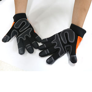 Microfiber Synthetic Leather Pad Palm Covert Tactical Safety Work Wholesale Touch Screen Anti Vibration Impact Mechanics Gloves