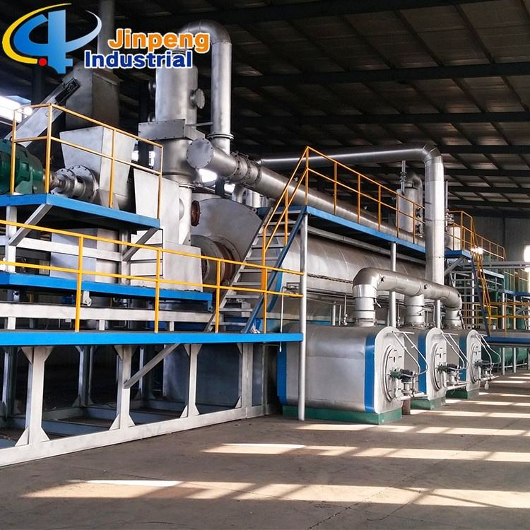 Continuous Scrap Tyre Recycling to Oil Machine Pyrolysis Company