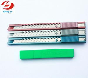 Ucuz ofis kağıdı 9mm yapış blade metal ofis sabit utility bıçak fabrika