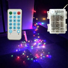 Copper Wire Strip Light Battery Powered LED String Lights Music Copper Wire LED Twinkle Lights